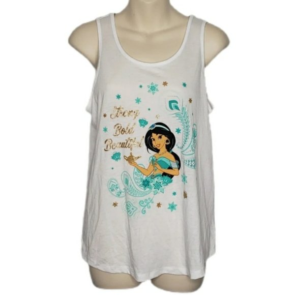 DISNEY white princess Jasmine tank top small NEW